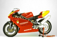 Ducati Supermono is a 65HP, 550cc single-cylinder race bike weighing only 118 kg (260 lbs)