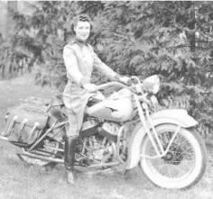 During WWII, Dot worked as a motorcycle courier for a defense contractor.