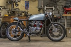 Dustin Kott's Honda CB550 cafe racer, the 'Falcon 550.'
