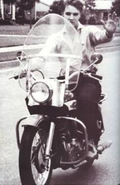 Elvis Presley Vintage Harley Davidson