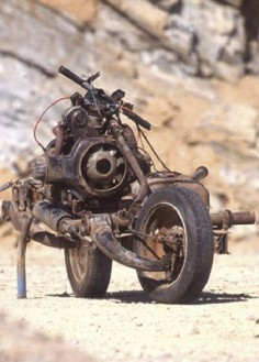 """Emile Leray built a working motorcycle from a broken down car (Citroen 2CV) to escape the Northwest African desert. He did it in 12 days using nothing more than a hacksaw & a few basic items found in a toolbox. Real- life """"Tony Stark"""" from Iron Man?"""