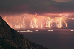 Eternal Lightning Fields, Venezuela. For ten hours each night for up to 160 nights per year, the lightning puts on a show like a wild Fourth of July night in America.