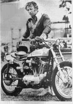 Evel Knievel with Harley XR750