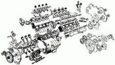 Exploded Moto Guzzi V8