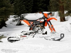EXPLORER Smart All Terrain System turns your standard issue dirt bike into a powder hound.