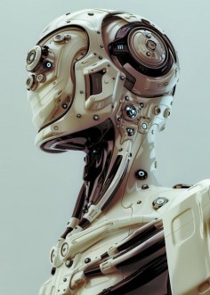 fbspin: Futuristic robotic man, a 3d android by Ociacia Andriods Androids Androids! …and cyborgs…