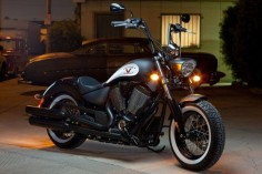 Flat Black Victory Motorcycle High-Ball. LOVE the flat back but not the modified ape-hangers.