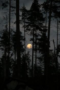 Full Moon in the skies of Sweden.
