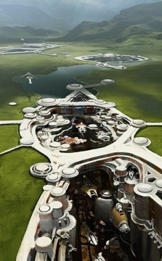 Future City   Makes me think of Earth3 from The Bobby Pendragon Chronicles. This is where I want to live :)  ~