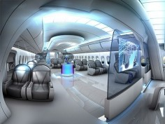 future private jets and airplanes - interior