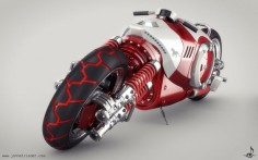 Futuristic Motorcycle, Arion Bike - 1. by ~johnstrieder on deviantART