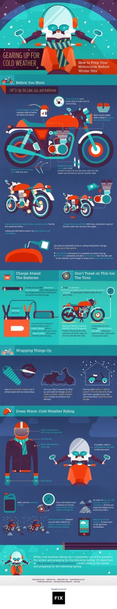 Gear up for the cold season with these tips for winterizing your motorcycle ahead of storage or winter riding. #motorcycle