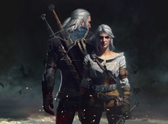 Geralt & Ciri, main characters from the game Witcher III Wild Hunt by CD PROJEKT