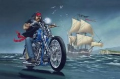 """Ghost Ship"" - Limited Editions - All Artwork - David Mann - Motorcycle Art 