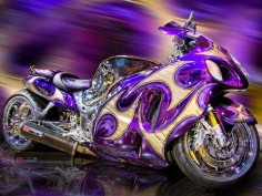 gorgeous purple motocycle
