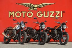 Great success of the Moto Guzzi V7 during the Press Tests in Mandello del Lario #motoguzzipride #motoguzzi