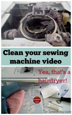 Great video tips of how to clean a sewing machine.