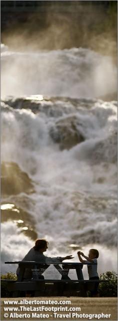 Great waterfall in Hellesylt Trollstigen, Geiranger Fiord Region, Norway. | Landscape by Alberto Mateo, Travel Photographer.