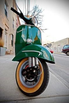 Green Vespa.