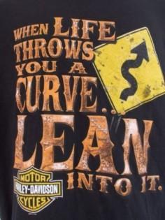 Harley Davidson Motorcycles T Shirt Large Scottsdale Arizona Life Curves Lean In $