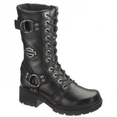 "Harley-Davidson Women's Eda 9"" Lace-Up Motorcycle Boots"