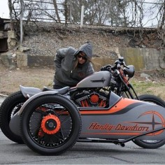 Harley Sportster custom with sidecar