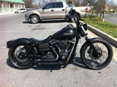 harley street bob black painted