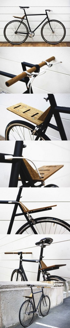 Have you noticed how much I love wood? This bike only has a few wooden parts, but the are elegantly used making this a new classic.