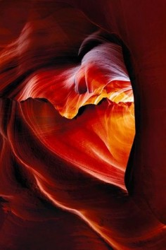 Heart shaped canyon in Arizona