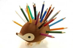 Hedgehog Pencil Holder | Ubergizmo