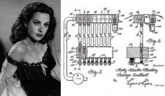 Hedy Lamarr was an inventor as well as a major Hollywood  the second world war, Lamarr co-created a device that would make America's radio-guided torpedoes harder to detect. The patent was submitted in 1942 but the idea was not implemented until 1962, when it was used by US ships during the blockade of Cuba. Lamarr's invention later formed the basis for modern Wi-Fi networks