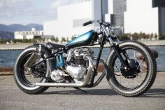Heiwa Lizard Tail Triumph T120R Bobber ~ Return of the Cafe Racers