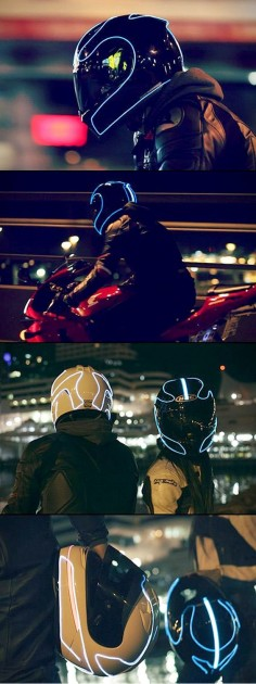 Helmet Lights – How to light up your helmet like Tron