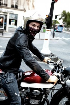 Helmet | Scarf | Gloves | Leathers | Cafe Brat