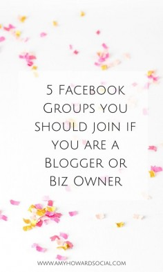 Here are 5 Facebook Groups that you should join if you are a blogger or business owner. Get ready to build relationships, partnerships, & mingle!