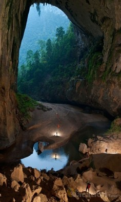 Hidden in the depths of the Vietnamese jungle lies The Hang Son Doong, part of a network of over 150 caves. Surrounded by jungle and used in the Vietnam war as a hideout from American bombardments, the cave passage is so large that it could hold a block of 40-storey skyscrapers.