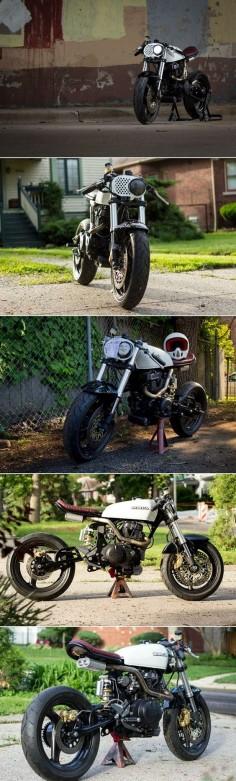 Honda 450 Cafe Racer #motorcycles #caferacer #motos |