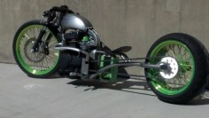 Honda BAR HOPPER BOBBER chopper Custom BIKE w/ Harley WHEELS