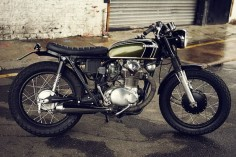 Honda CB350 custom, I like the short tail pipe.