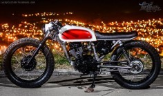 "Honda CG 125 Cafe Racer ""Project 23"" by Lucky Custom #motorcycles #caferacer #motos 