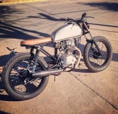 HONDA CG125 Brat Style #motorcycles #bratstyle #motos |