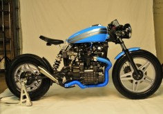 Honda CX500 by Barn Built Cafe Racer | monoshock swingarm | via
