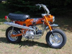 Honda Trail 70 had one just like this. Same color too. It was so much fun to ride.