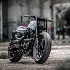 Hooligan Tactics: A pixel-perfect Harley Forty-Eight by Rough Crafts.