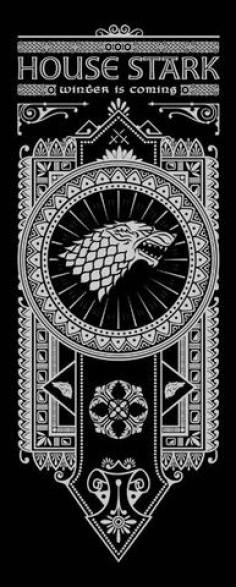 House Stark Banner by olipop #got #agot #asoiaf