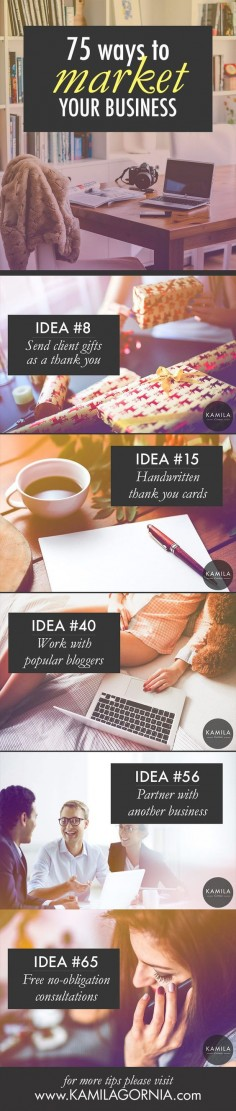 How to market your business. 75 marketing ideas for a small business on a budget. business ideas #smallbusiness small business ideas wahm ideas