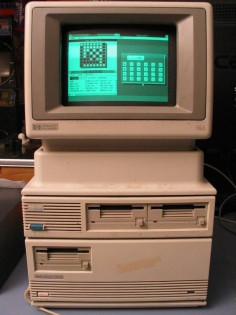 HP150 from 1983 running Microsoft Windows