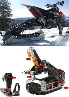 I freaking want  Kit Turns Your Dirtbike Into A Snowmobike
