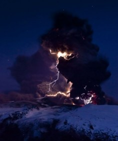 I want to see a volcano create lightning! Iceland is on the bucket list! -photograph by David Jon/NordicPhotos