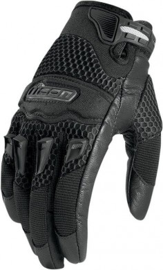 Icon Twenty-Niner Motorcycle Gloves Women's Black S Small $35